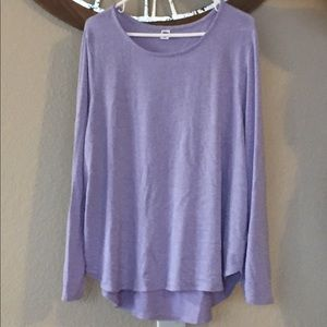 Old Navy Soft lavender tunic. Long sleeve. XXL.
